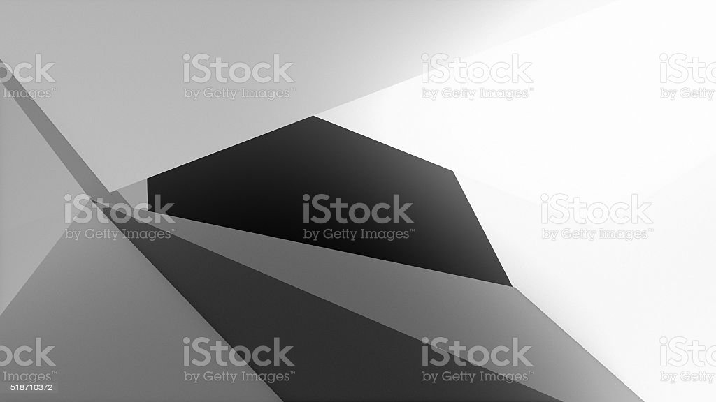 3D Illustration, abstract composition stock photo