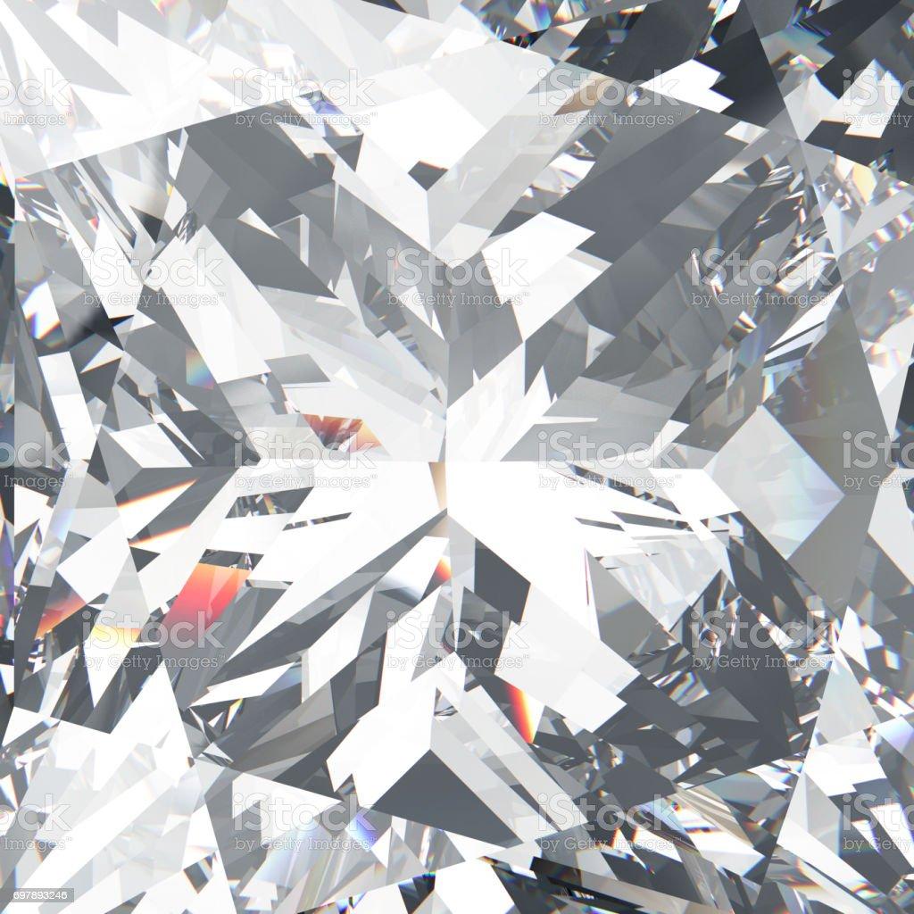 3D illustration closeup crop diamond texture macro zoom stock photo