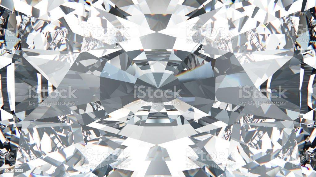 3D illustration crop diamond macro zoom stock photo
