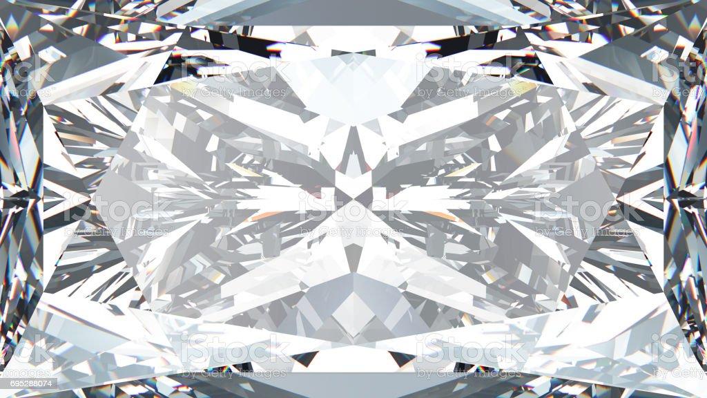 3D illustration crop diamond texture macro stock photo