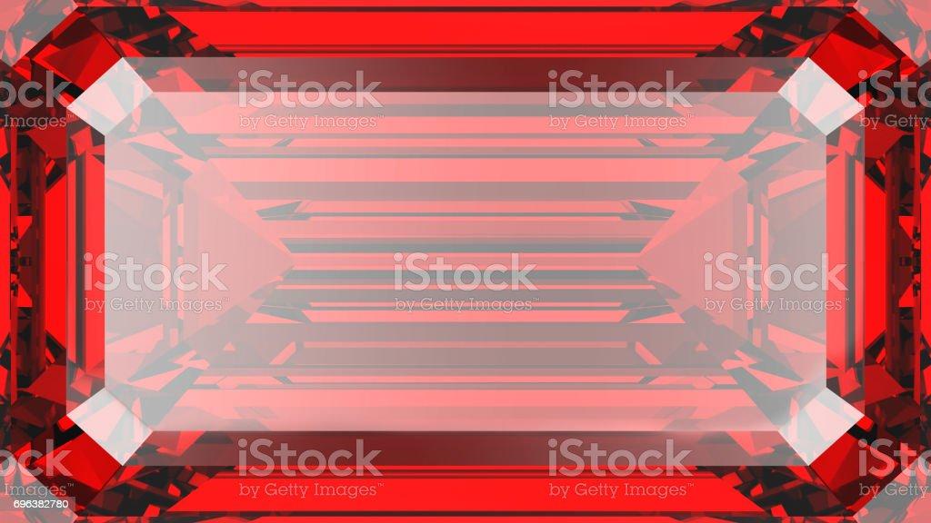 3D illustration crop ruby diamond texture macro zoom stock photo