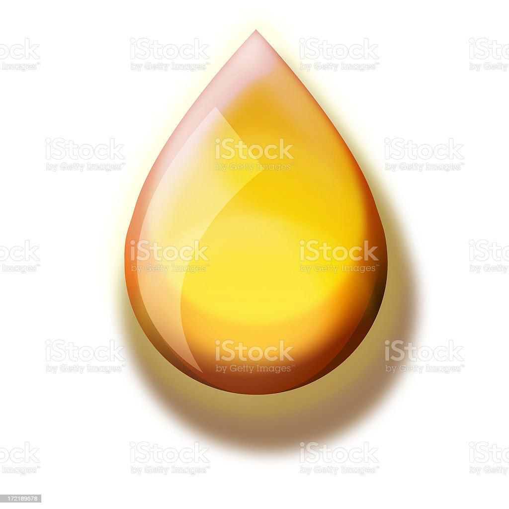 illustration: Drop of Oil royalty-free stock photo