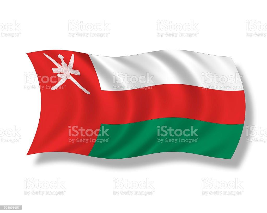 Illustration, Flag of Oman stock photo