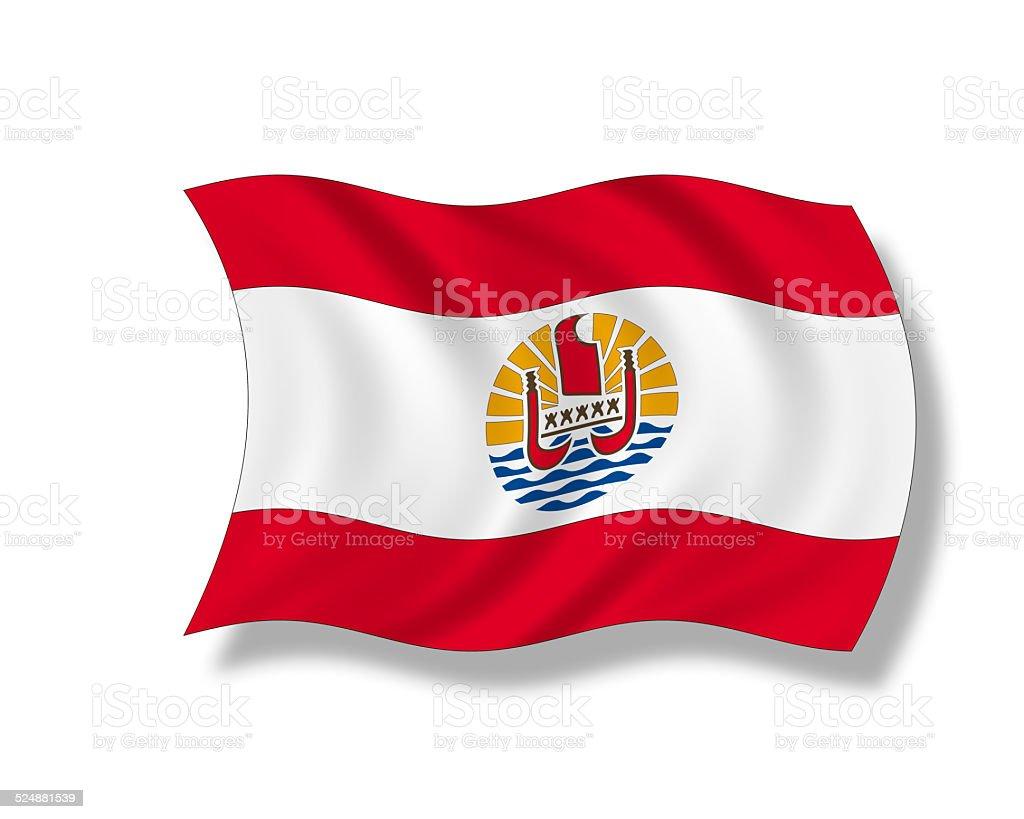 Illustration, French Polynesian flag stock photo