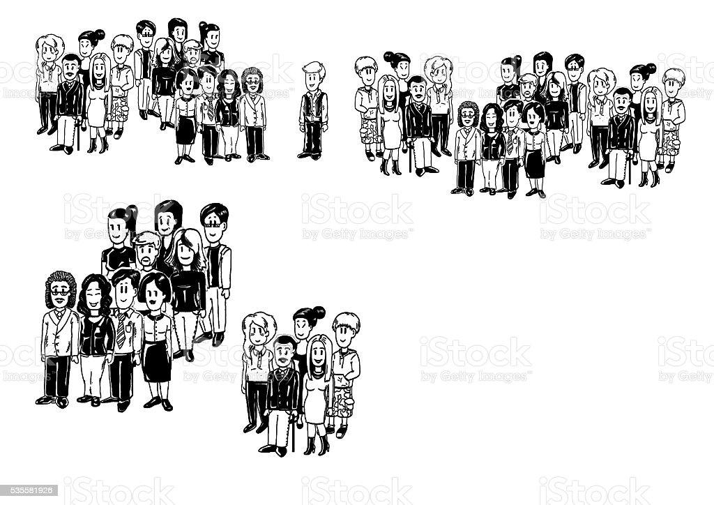 illustration groups of people stock photo