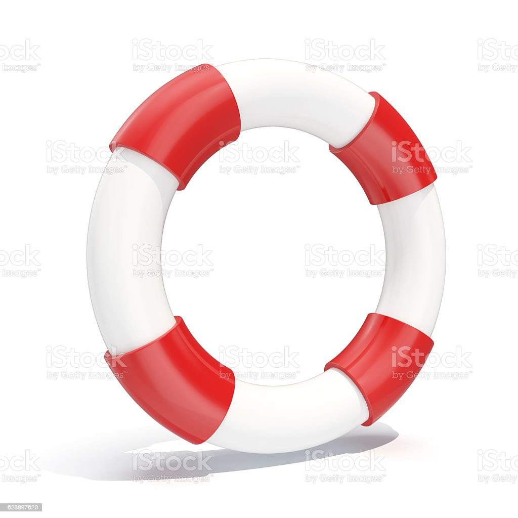 illustration icon lifebuoy isolated on white background. stock photo