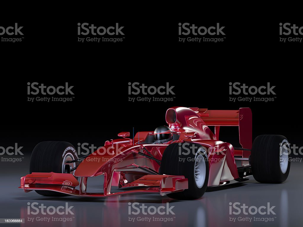 Illustration if a red racing car royalty-free stock photo