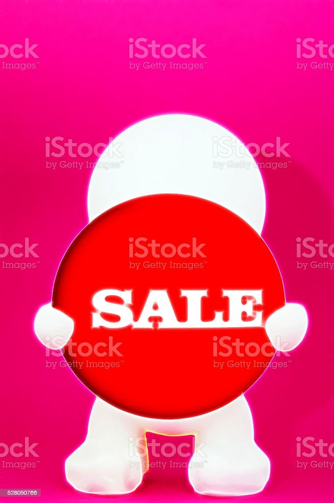 Illustration male with shield Sale stock photo