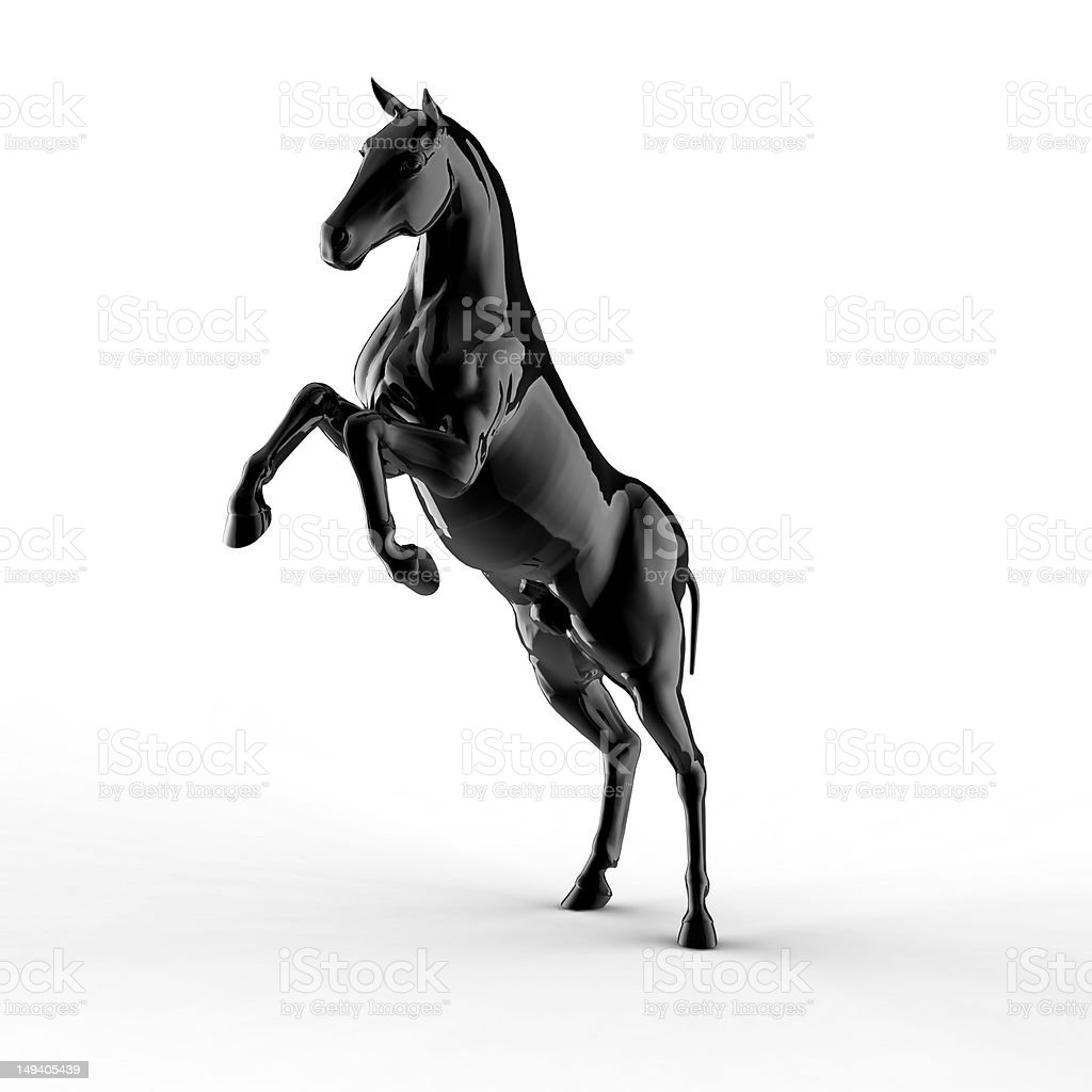Illustration of a black horse royalty-free stock vector art