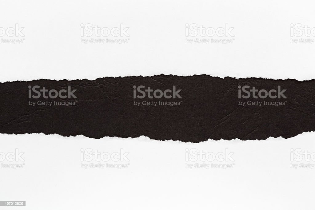 Illustration of a black rip on a white background stock photo