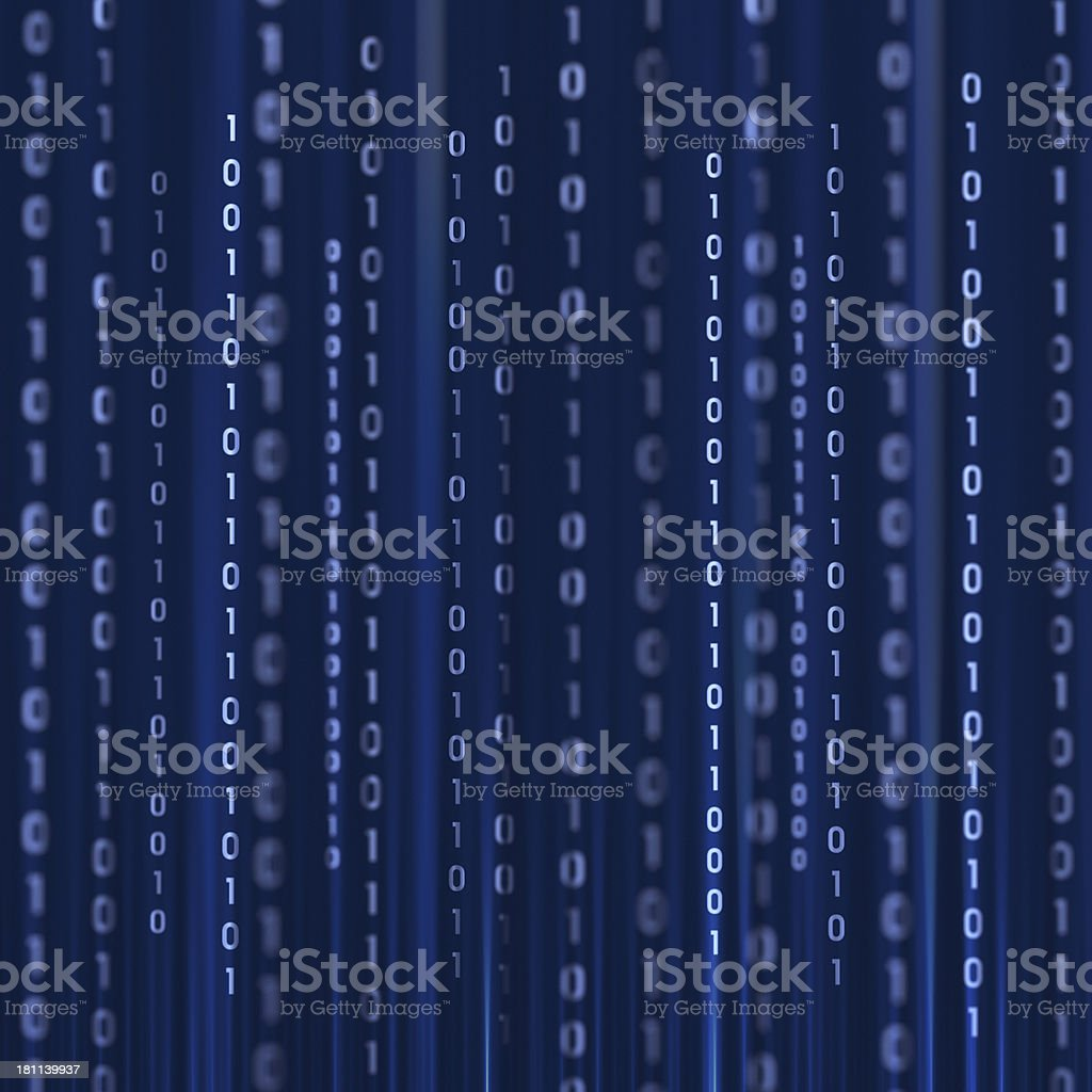 Illustration of a blue background of binary code royalty-free stock photo