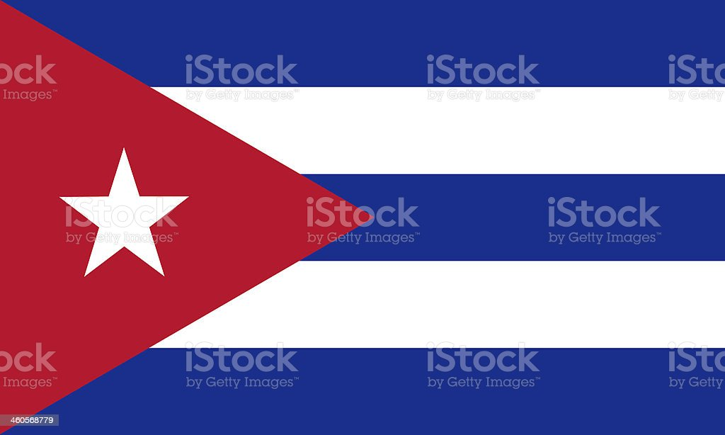 Illustration of a blue red and white Cuban flag stock photo