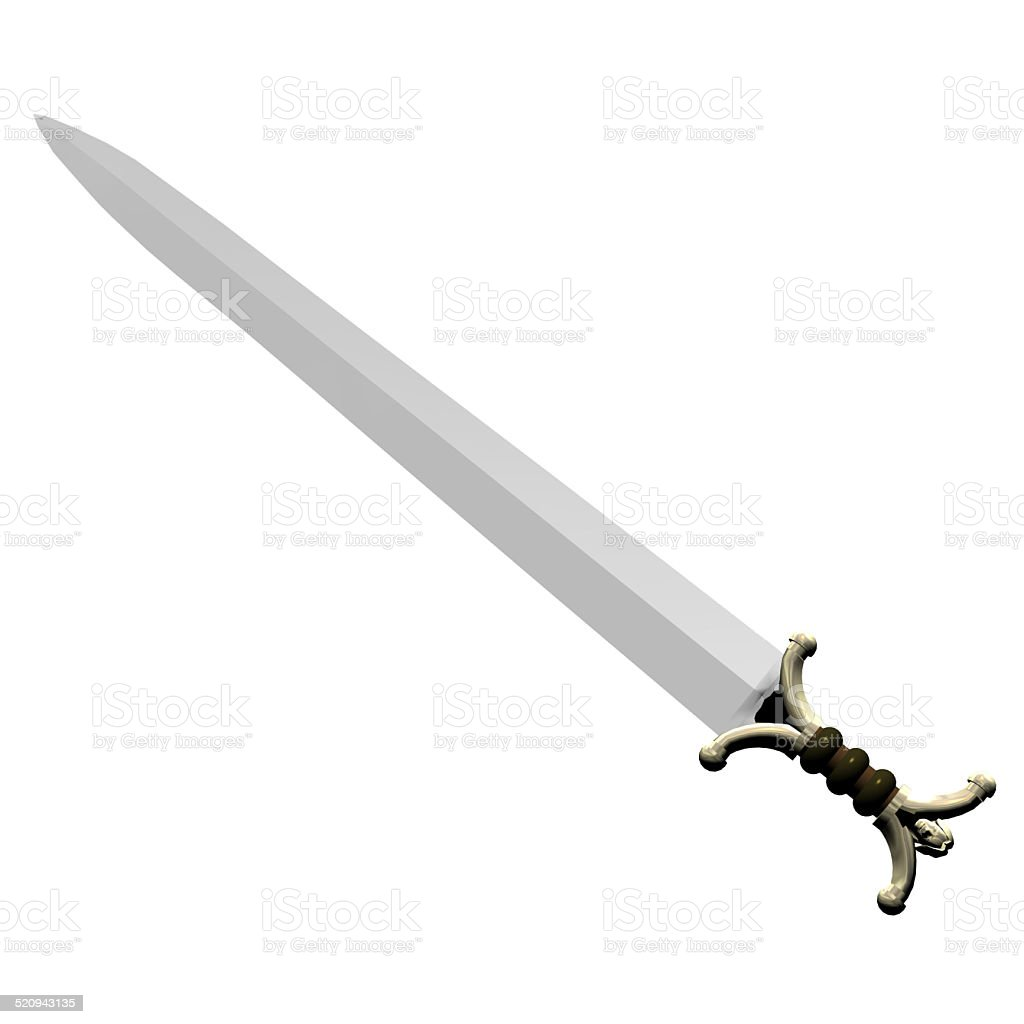 Illustration of a celtic sword stock photo