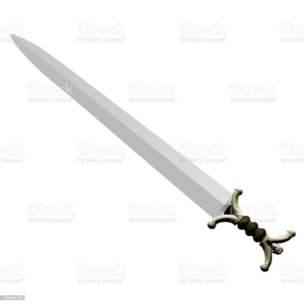 Illustration of a celtic sword stock photo