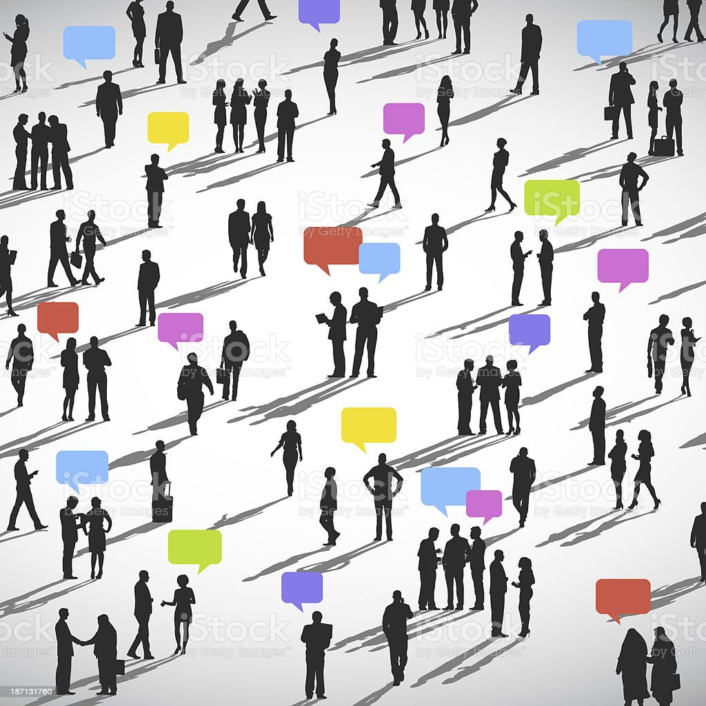 Illustration of a large group of people on social networking stock photo