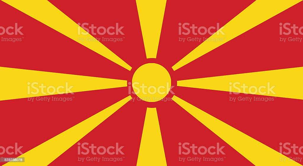 Illustration of a Macedonia flag stock photo