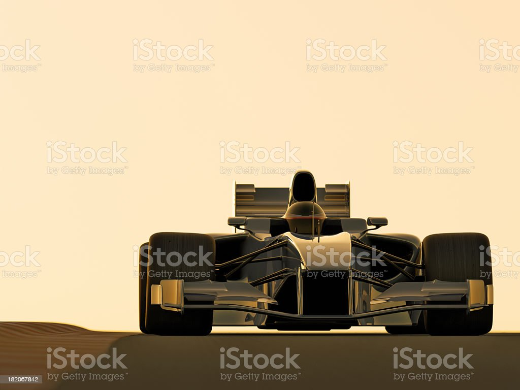 Illustration of a model of a race car royalty-free stock photo