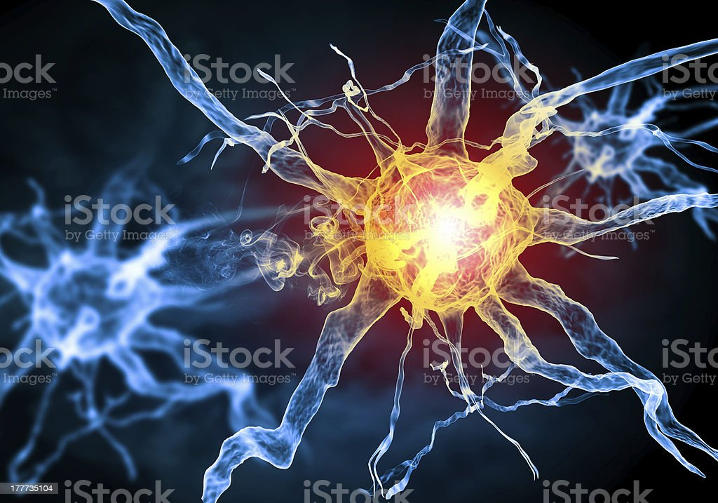 Illustration of a nerve cell stock photo