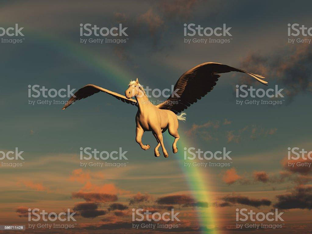 Illustration of a pegasus stock photo