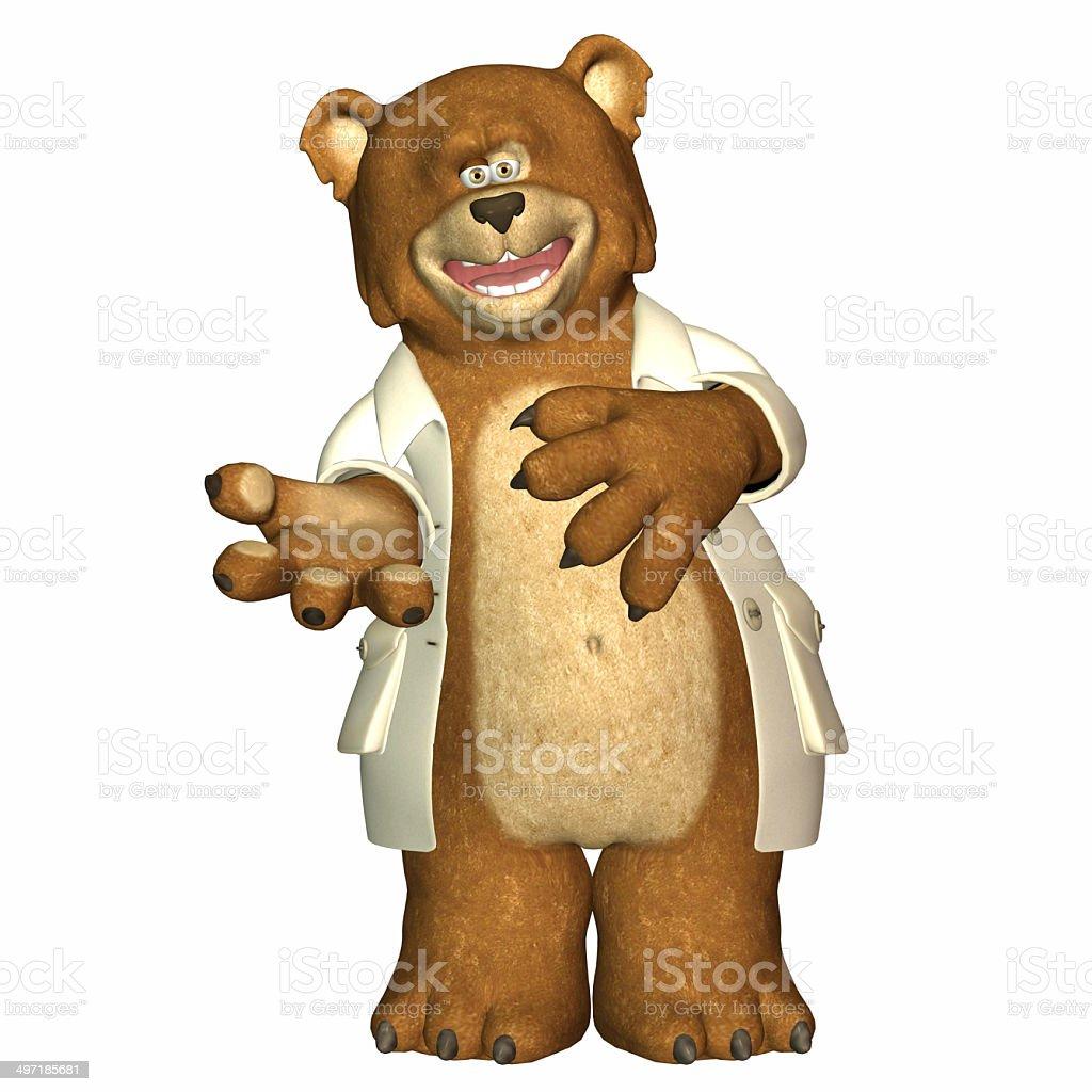 Illustration of a professional bear stock photo
