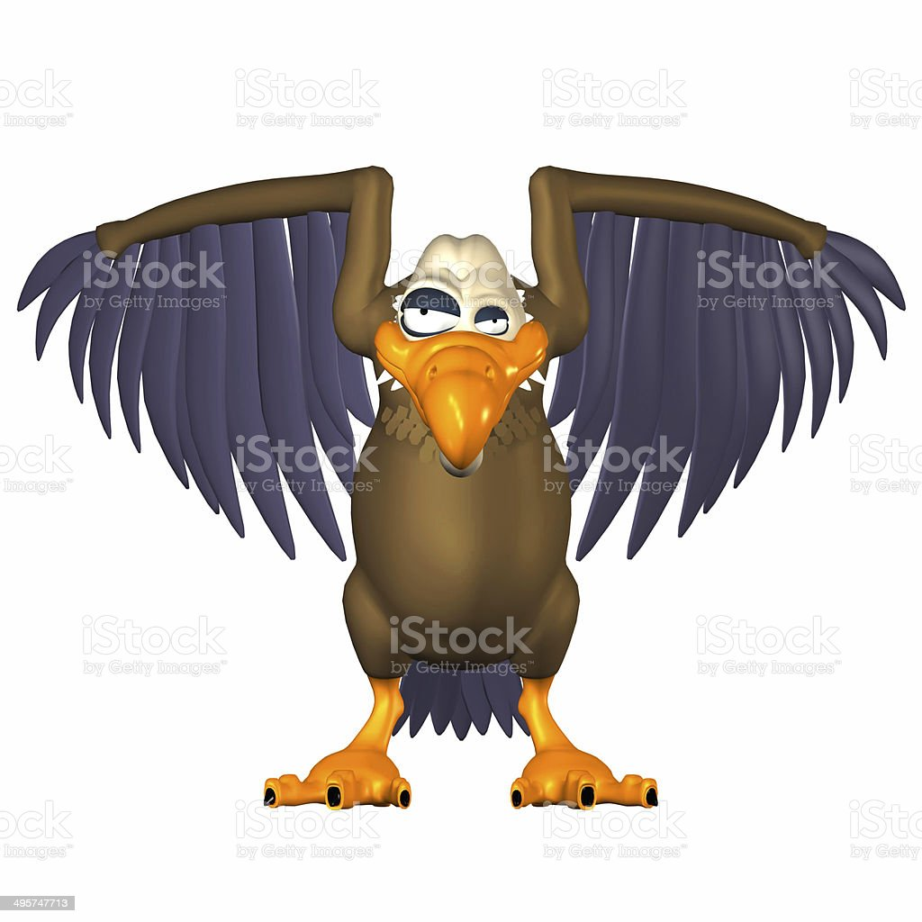 Illustration of a vulture stock photo