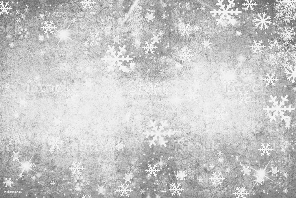 Illustration of a Winter Background with Snowflakes stock photo