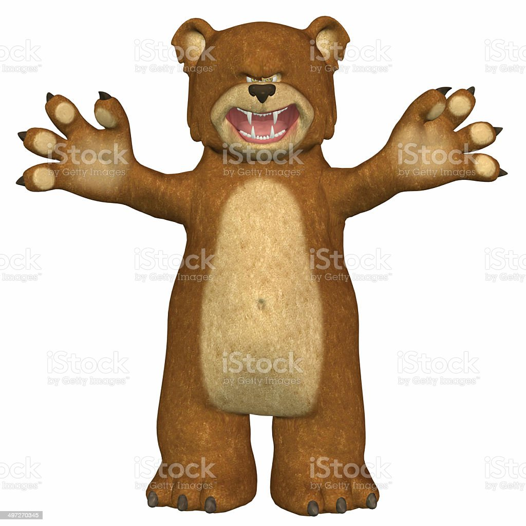 Illustration of an angry bear stock photo