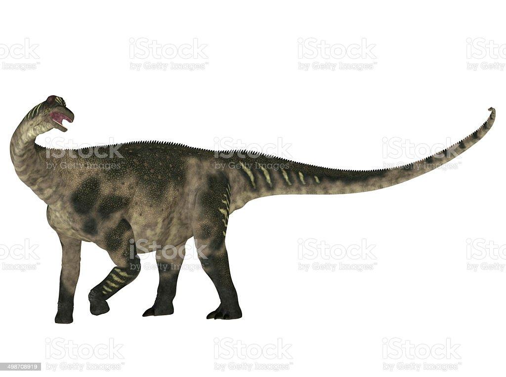Illustration of an Antarctosaurus stock photo