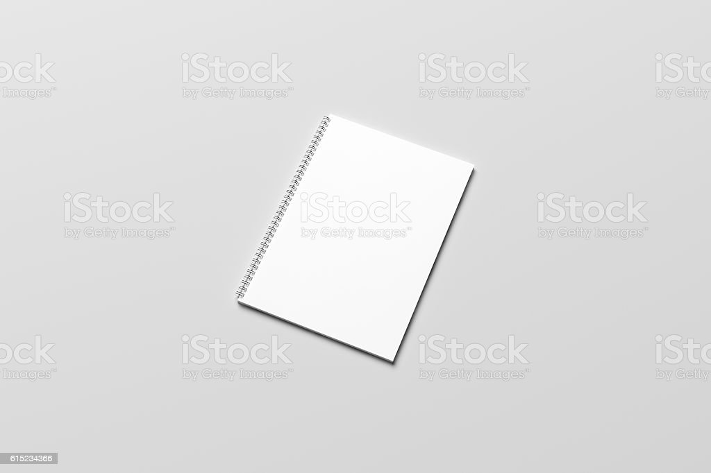 3D Illustration of blank Notebook Mock-up stock photo