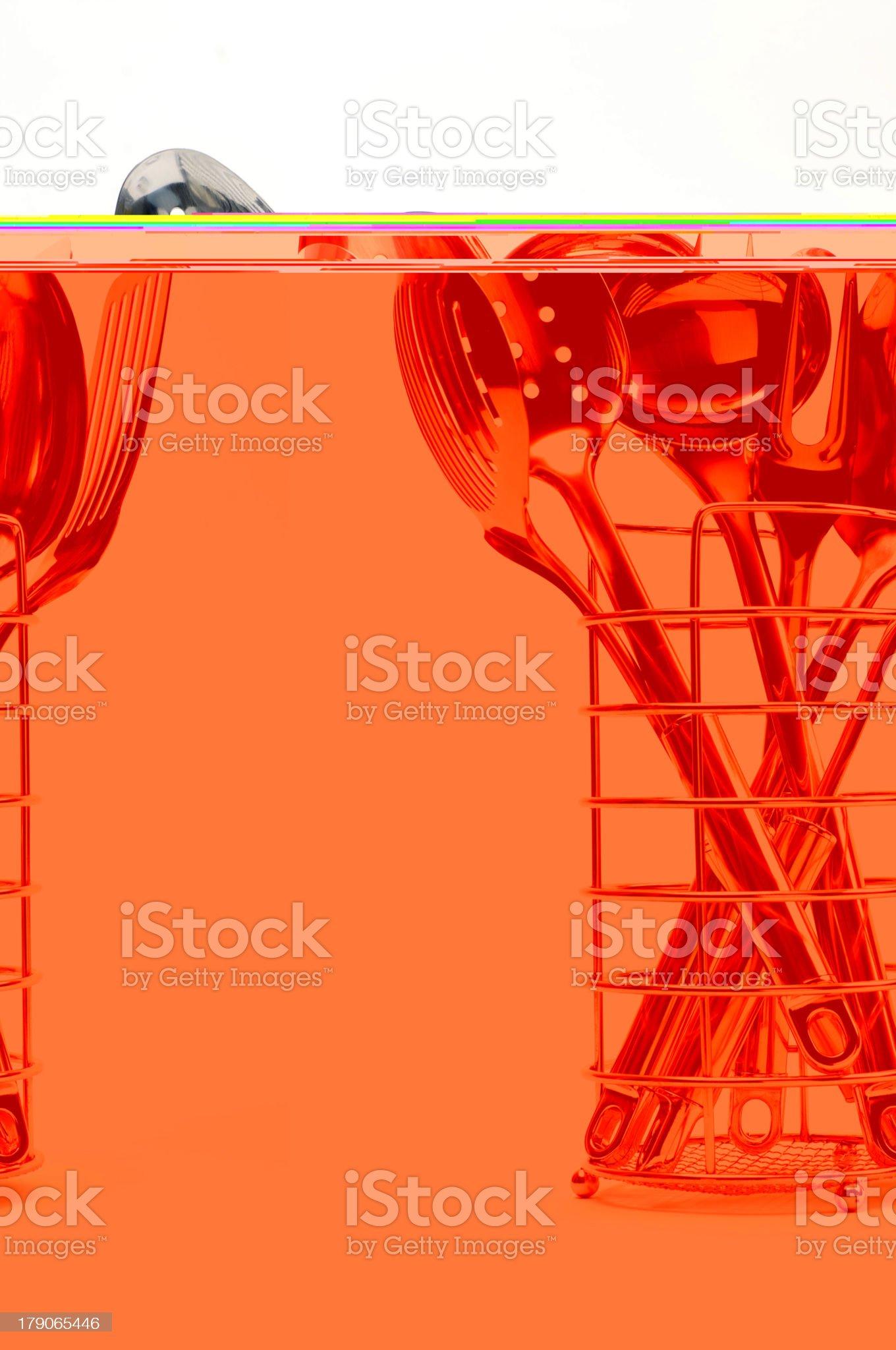 Illustration of chefs utensils royalty-free stock photo