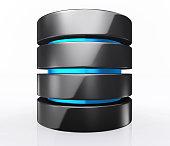 3D illustration of Database storage concept, cloud computing.
