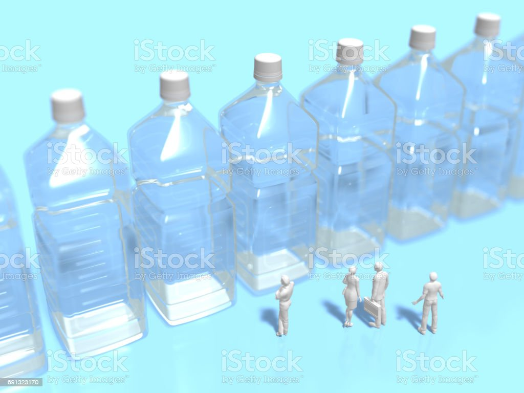 3D illustration of drinking water securing stock photo