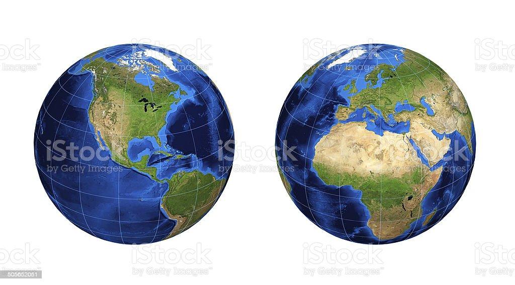 Illustration of Earth stock photo