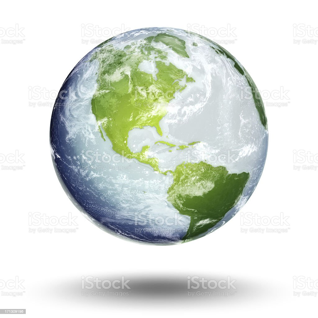 Illustration of Earth's western hemisphere and the Americas stock photo