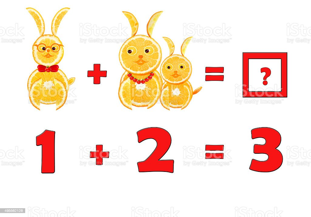 Illustration of Education Mathematics for Preschool Children stock photo