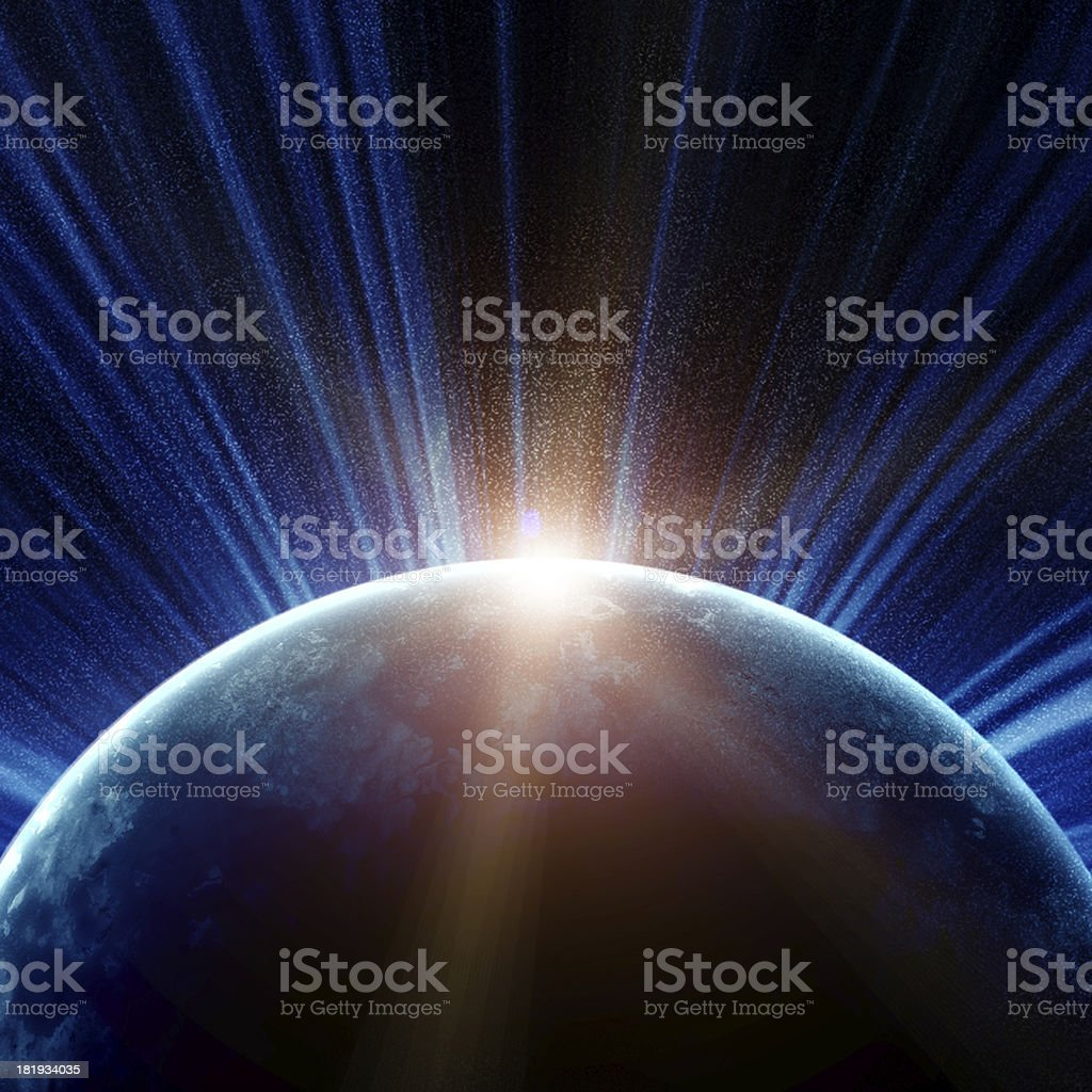 illustration of fantastic space royalty-free stock photo