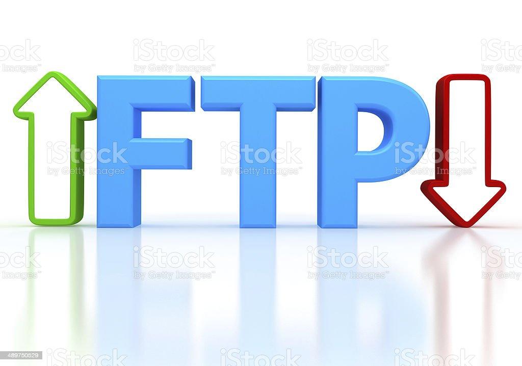 Illustration of FTP ( File transfer Protocol ) stock photo