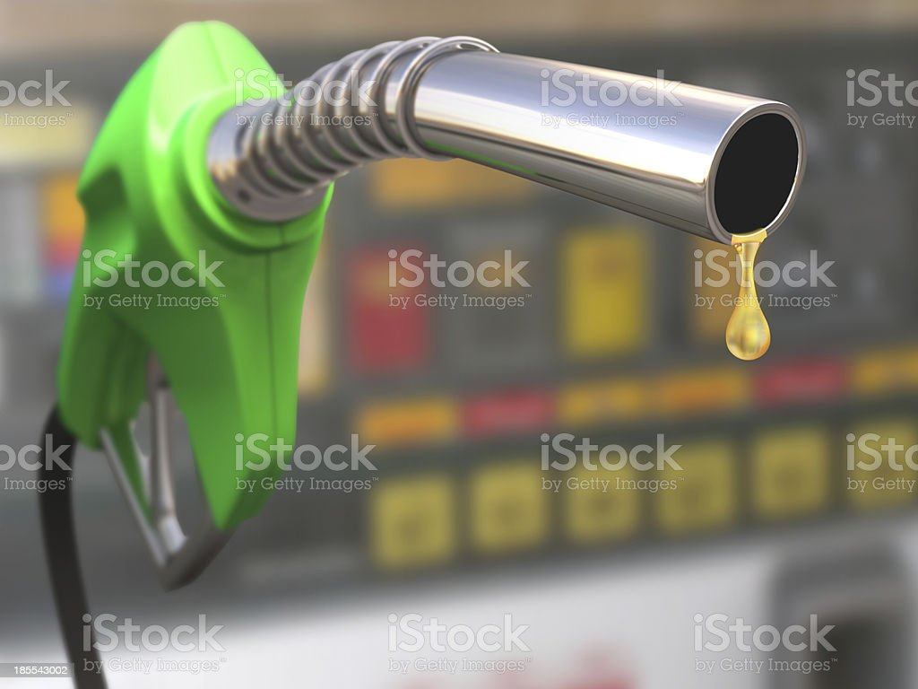 Illustration of gasoline pump with a drop stock photo