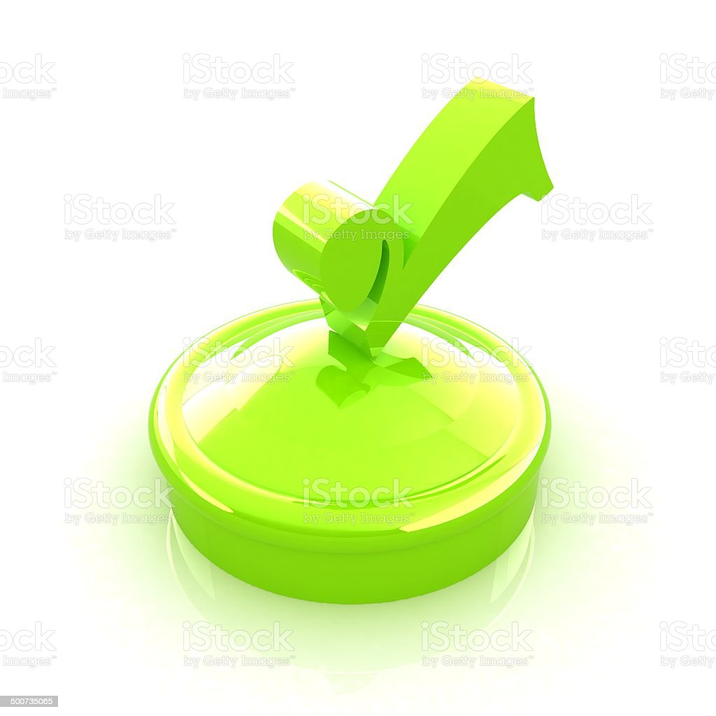 illustration of green checkmark on isolated background royalty-free stock photo