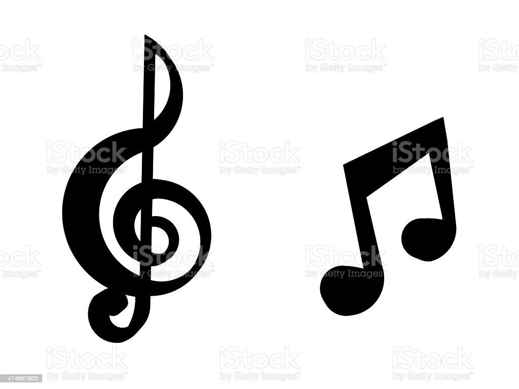 illustration of isolated music notes stock photo