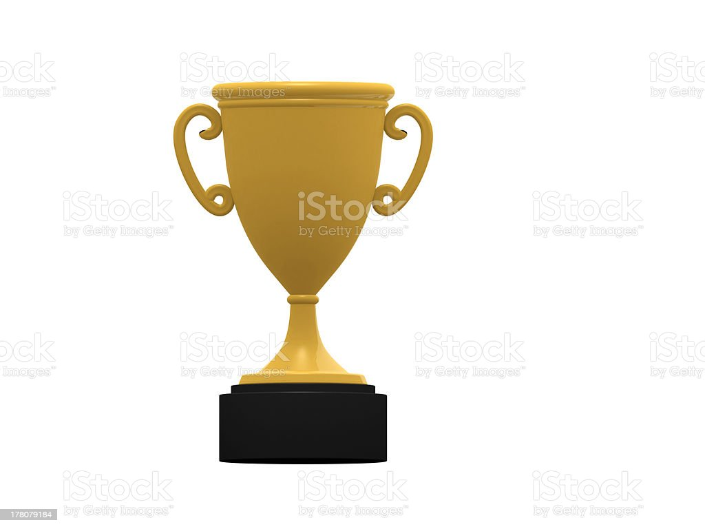 illustration of isolated trophy royalty-free stock photo