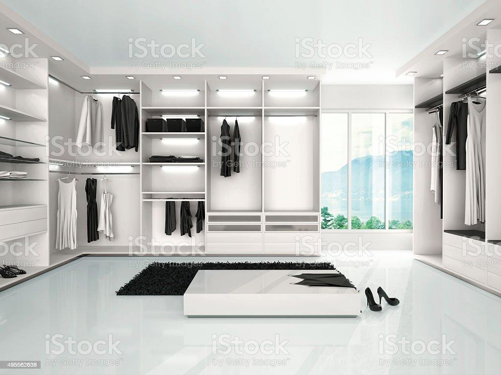 illustration of luxury wardrobe in modern style stock photo