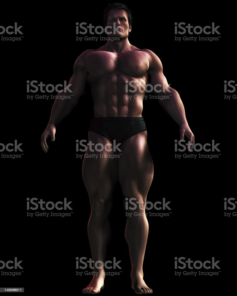 Illustration of Massive Male Bodybuilder royalty-free stock photo