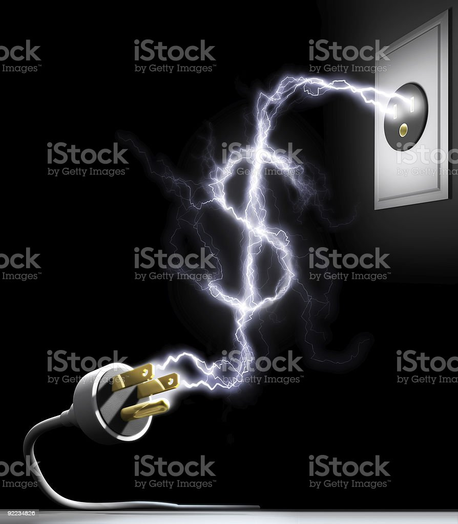 Illustration of money and power stock photo
