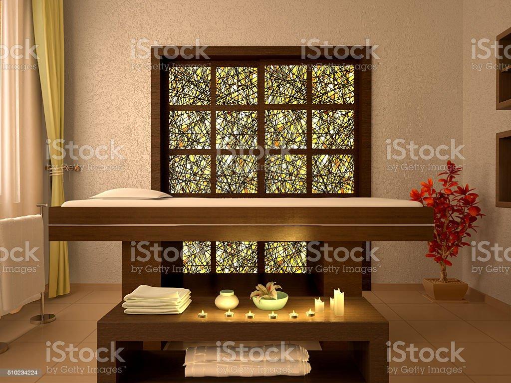 illustration of nice massage room stock photo
