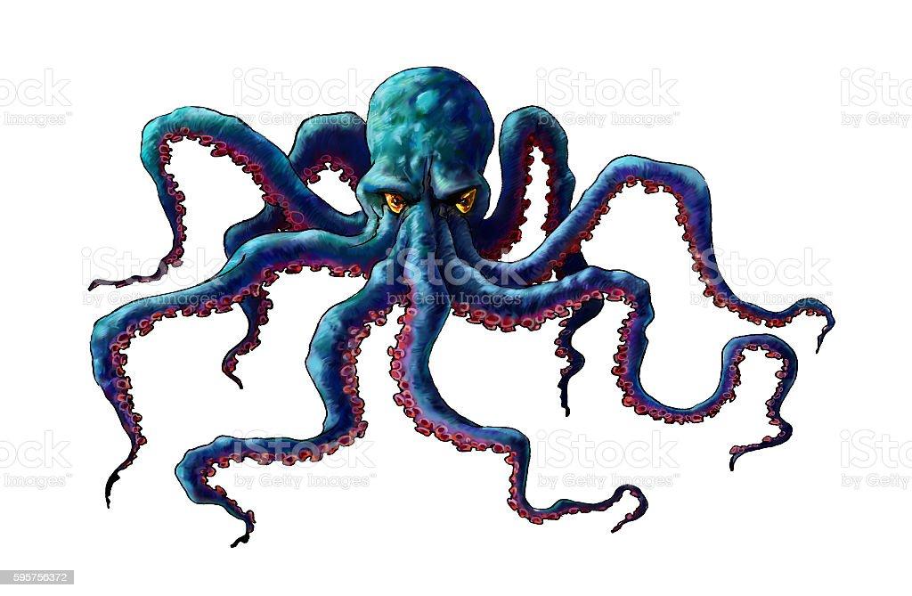 Illustration of octopus stock photo