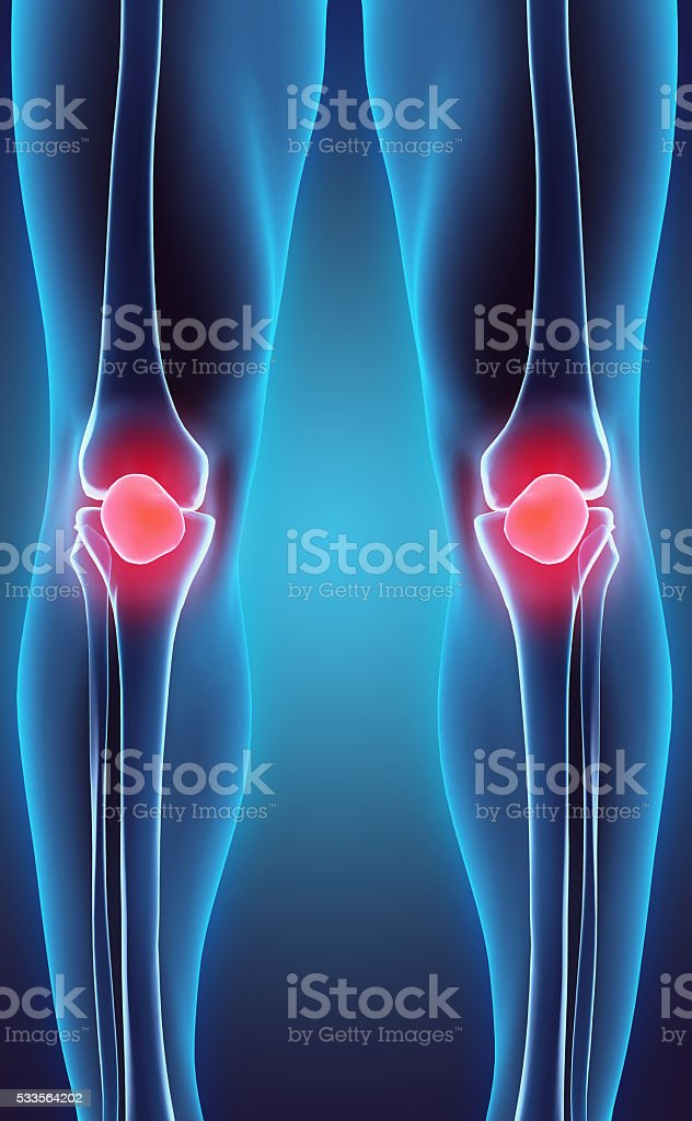 3D illustration of Patella, medical concept. stock photo