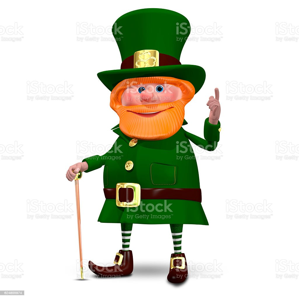 3D Illustration of Saint Patrick stock photo