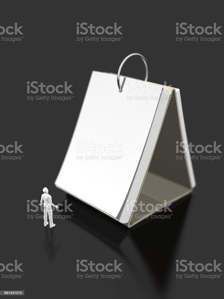 3D illustration of schedule stock photo