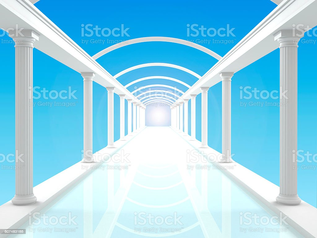 Illustration of the colonnade 4 stock photo